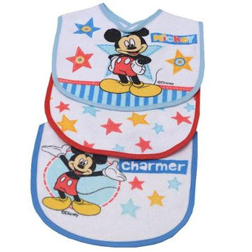 Disney Mickey Mouse Star of the Show 3-Pack Bibs