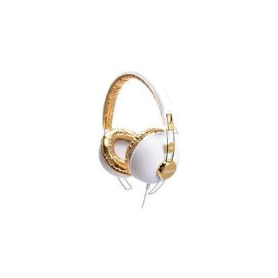 iDance HIPSTER703 Headphones - White With Brown Trim