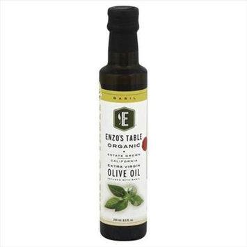Enzo Olive Oil Co 250 ml. Organic Basil Extra Virgin Olive Oil - Case Of 6