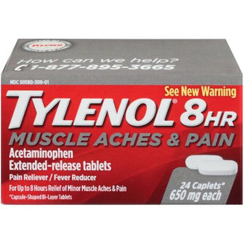 TYLENOL 8 Hour Muscle Aches & Pain Caplets, 24 ea