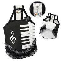 Klippo Pet, Inc Klippo Pet KDR058MZ Adorable Piano Dress With Ruffles - Medium