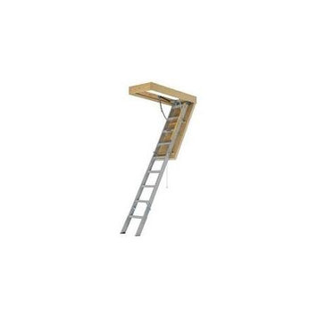 Louisville 10-ft Aluminum 375-lb Type IAA Attic Ladder AEE2510