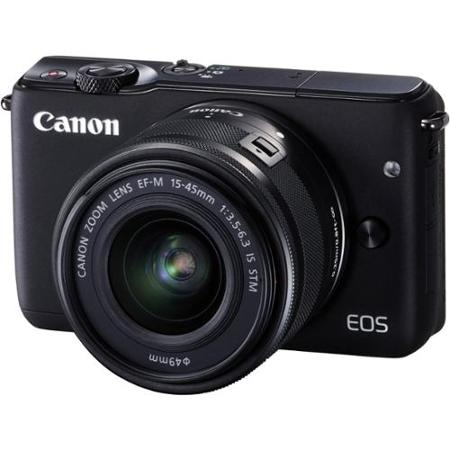 Canon EOS M10 Mirrorless Digital Camera with EF-M 15-45mm camera Kit - Black
