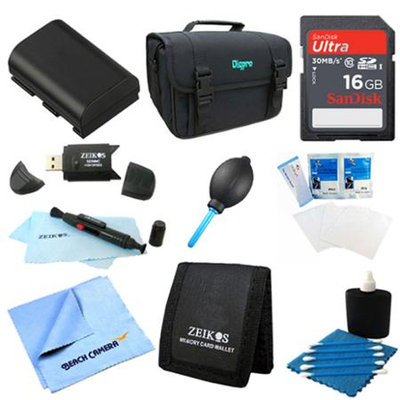 Special Loaded Value 16GB Card & LP-E6 Battery Kit for Canon 5D Mark III & 60D