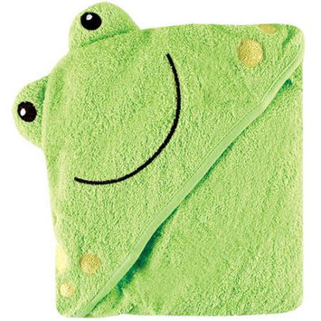 Baby Vision Luvable Friends Animal Face Hooded Towel Woven Terry, Frog
