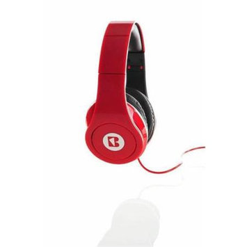 iBoost HP2206RD Stereo Foldable Headphones With Deep Heavy Bass Red