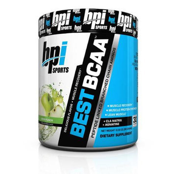 BPI Sports Best BCAA Peptide Chain Amino Energy Powder, Green Fusion, 10.58oz