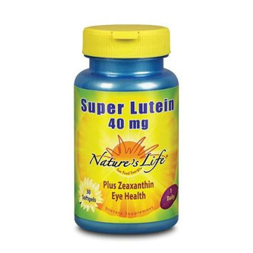 Nature's Life - Super Lutein 40 mg. - 30 Softgels
