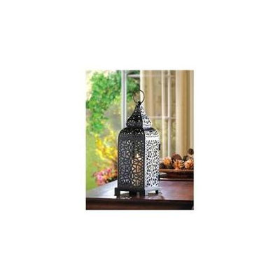 Koolekoo Moroccan Tower Black Metal Candle Lantern 13