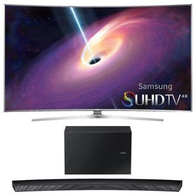Samsung - Bundle UN65JS9500 - 65-Inch Curved 4K 120hz SUHD 3D LED TV w/ HW-J7500 Soundbar Bundle - E4SAMUN65JS9500