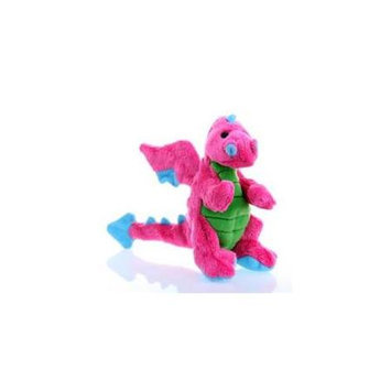 Go Dog Quaker Pet Group SH70973 Godog Mini Dragon Dog Toy- Pink