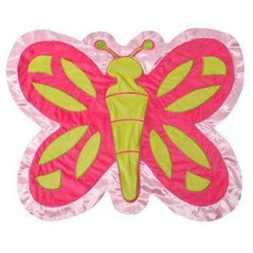 Scene Weaver 82099 Butterfly Baby Blanket Pink