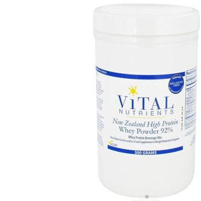 Vital Nutrient's Vital Nutrients - New Zealand High Protein Whey Powder 92 - 500 Grams
