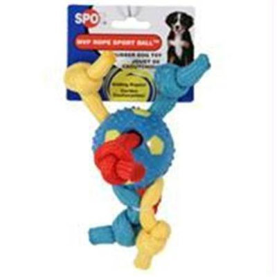 Ethical Pet Products Ethical Dog-Spot Mvp Sport Ball With Ropes- Assorted 2.5
