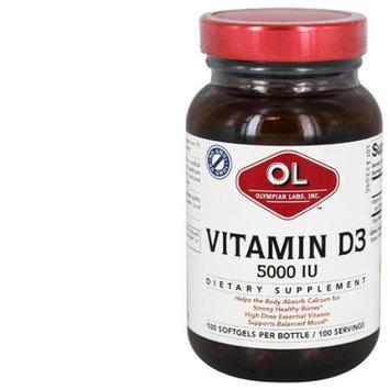 Olympian Labs Vitamin D3 5000 IU - 100 Softgels