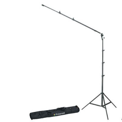 Polaroid Pro Studio 8 Air-Cushioned Heavy Duty Light Stand - Boom & Holder