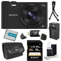 Sony DSC-WX350/B Black Digital Camera 16GB Bundle