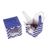 Fun Express Chevron Cupcake Boxes with Handle