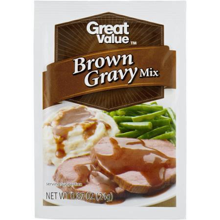 Great Value: Brown Gravy Mix, 0.87 oz