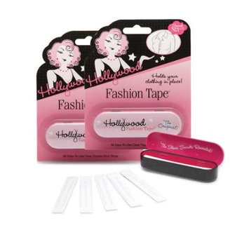 Hollywood Fashion Secrets Inc 2 PACK set - Clothing 2-Sided Tape 072-Strips w/ 2 Tins by Hollywood Fashion Tape #KitFT36