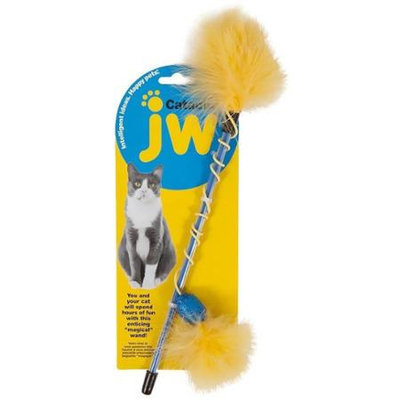 JW Pet Cataction Feather Wand Cat Toy, 30 L
