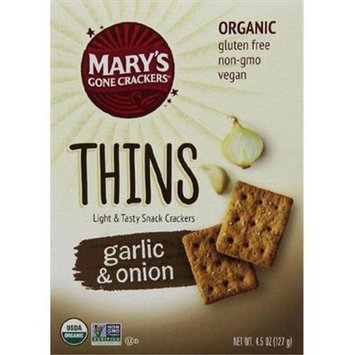Mary's Gone Crackers THINS, OG2, GARLIC & ONION, (Pack of 6)