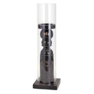Imax Corporation Ella Elaine Medium Wood And Glass Candle Holder