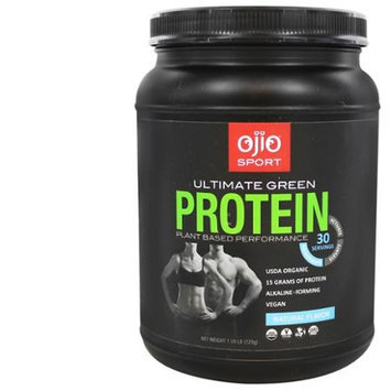 Ojio Sport - Ultimate Green Protein Plant Based Performance Natural 30 Servings - 1.59 lbs.