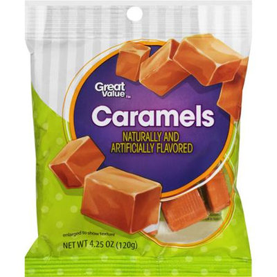 Great Value Caramels, 4.25 oz