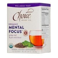 Choice Organic Teas - Wellness Teas Mental Focus - 16 Tea Bags