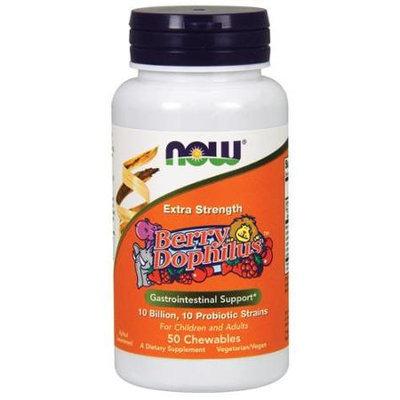 BerryDophilus Extra Strength 10 Billion Now Foods 50 Chewable