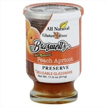 Braswell 11 oz. All Natural Peach Apricot Preserve - Case Of 6