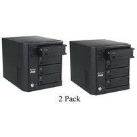 2 Pack Verbatim PowerBay NAS RAID 3.5 8TB USB/RJ45 Quad Hard Drive Enclosure