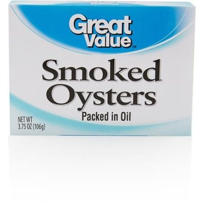 Great Value: Orange Smoked Oysters, 3.75 Oz