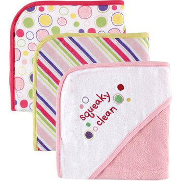 Baby Vision Luvable Friends 3-Pack Embroidered Sayings Hooded Towels
