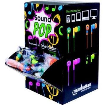 Manhattan SoundPOP Earphone Countertop Display/Dispenser w/ 40 Earphones