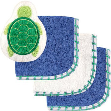 Baby Vision Luvable Friends 3 Pack Washcloths with Toy - Turtle