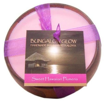 Bubble Shack Hawaii 492773500854 Sweet HI Plumeria Poi Bowl Candles - Pack of 2