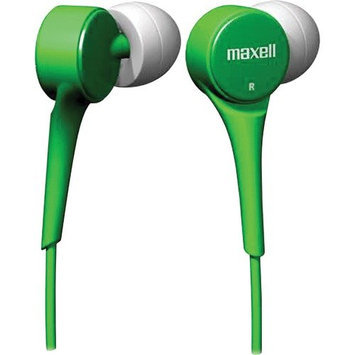 Maxell 190260 Earphone - Stereo - Green - Mini-phone