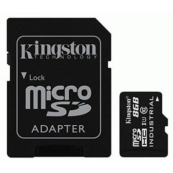 Kingston SDCIT/8GB 8GB Microsdhc Uhs-i Class 10 Flsh Industrial Temp Card W/ Sd Adapt