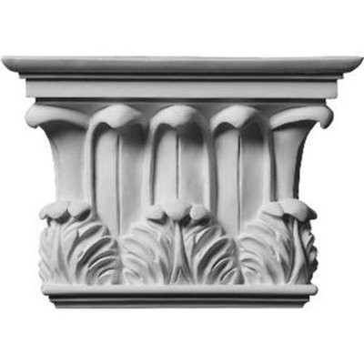 Ekena Millwork Temple Of Winds 10.75-in x 0.64-ft Urethane Capital Entry Door Casing Accent