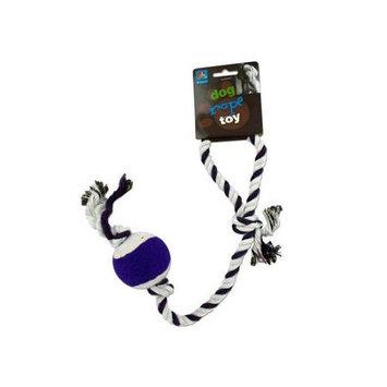 Bulk Buys Bulk Dog rope tennis ball toy 24 Pack