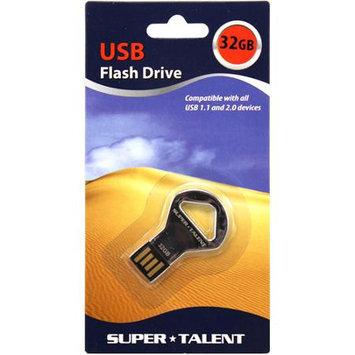 Super Talent Elite Series CKB 32GB USB2.0 Flash Drive (Silver)