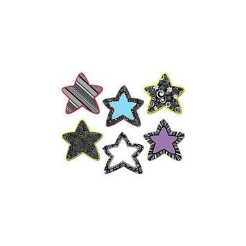 Creative Teaching Press Black And White Stars 6In Designer Cut Outs