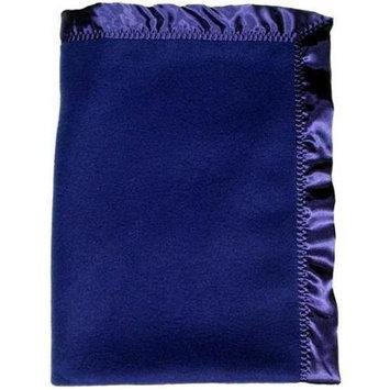 Dee Givens & Co/raindrops Dee Givens & Co-Raindrops 1406 Boy Dark Royal Fleece Crib Blanket - Dark Royal