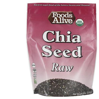 Foods Alive - Organic Raw Chia Seeds - 8 oz.