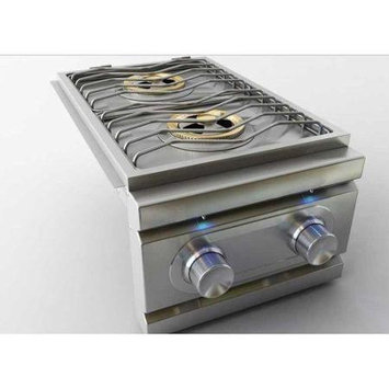 Rcs Gas Grills Stainless Steel Double Side Burner with LED Lights - LP
