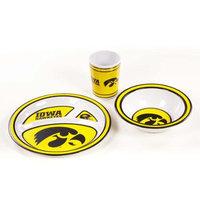 BSI Products BSI Iowa Hawkeyes Kid's 3 Pc. Dish Set