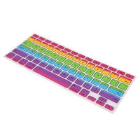 The Case Doctor 12-KEYB-0188 Rainbow Ombre Faded MacBook Pro 13 15 17 Silicone Keyboard Cover Skin