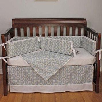 Hoohobbers Pebbles Sky Blue 4 pc. Crib Bedding Set